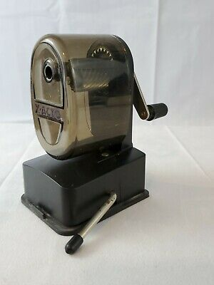 X-acto Vacuum Pencil Sharpener Steel Cutter Smoke Clear Plastic -free Shipping