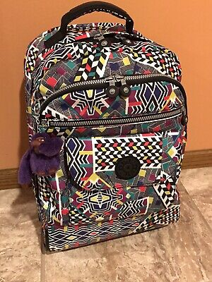 Kipling Sanaa Large Rolling Backpack Multicolor WL4764-095 (Pre-Owned)