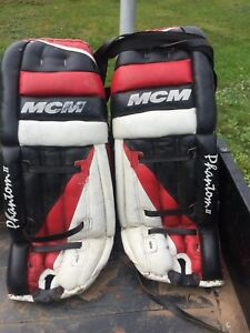 Pair of goalie pads for sale