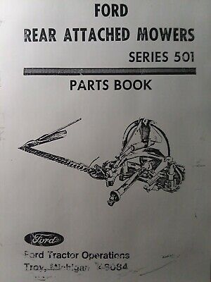 Ford 501 3-point Side Mounted Tractor Implement Sickle Mower Parts Manual