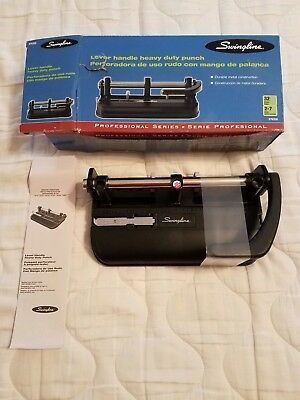 Swingline 2-7 Hole Heavy Duty Punch 74350 Up To 32 Sheets Brand New