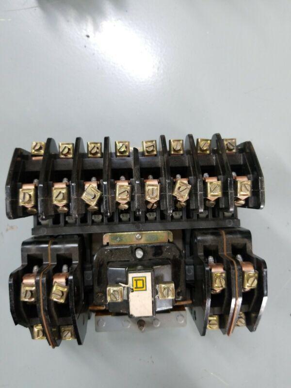 SQUARE D LIGHTING CONTACTOR 20 AMP 120 VAC COIL 8903L01200