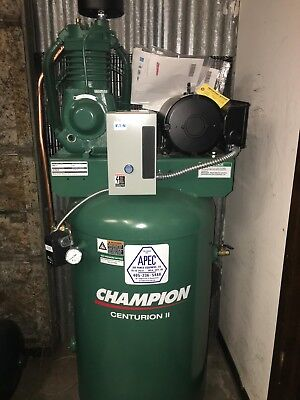 Vrv5-8 Champion Air Compressor 80-gallon 2-stage 230v Single Phase 17.3cfm 175