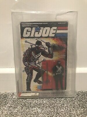 1989 Vintage G I Joe ARAH series 8 Snake eyes AFA 80