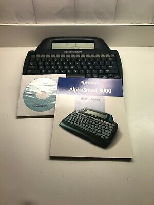 Alphasmart 3000 Portable Word Processor Tested Withcdusers Guide
