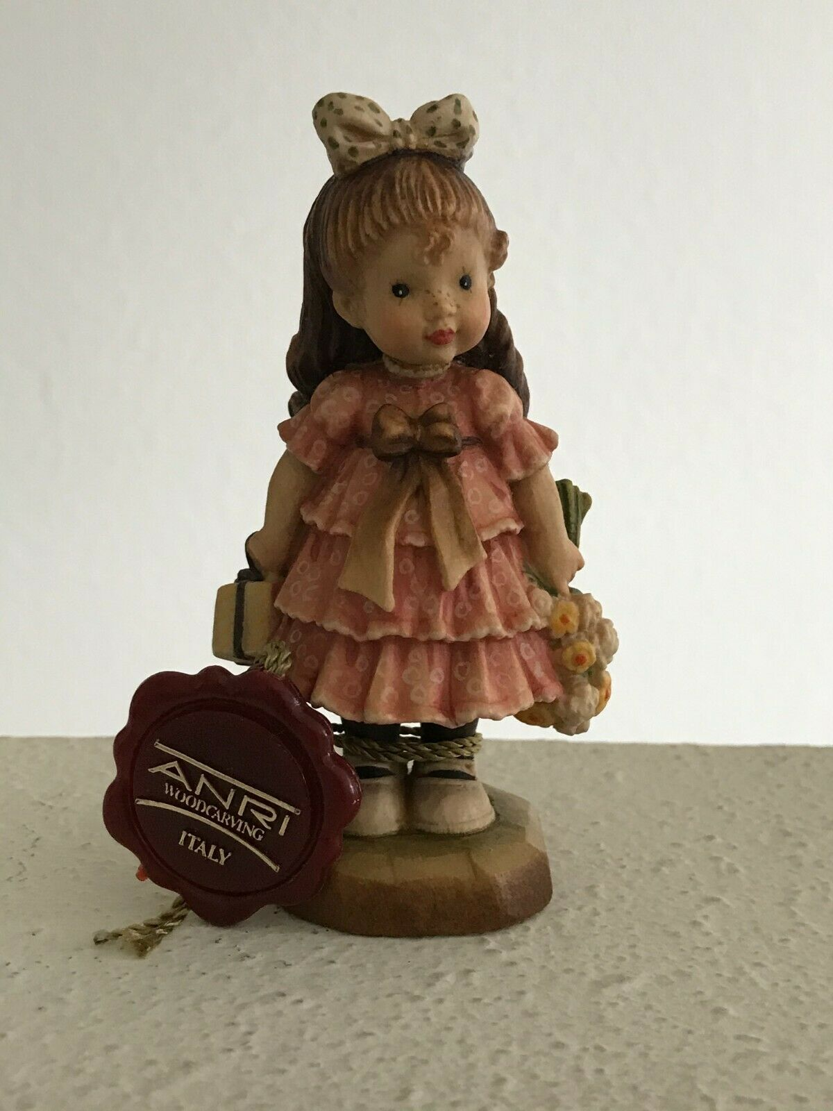 Anri Sarah Kay Valentine 4 Wood Sculpted Figurine Special Day Ltd Edt 126/4000 - $58.75