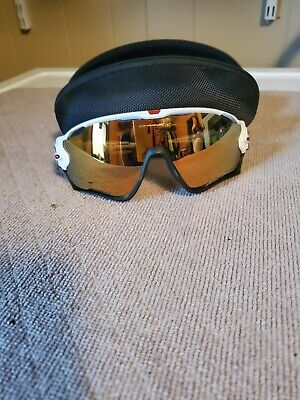 Oakley Jawbreaker 24K Iridium Polarized Sunglasses - White/Prizm Road