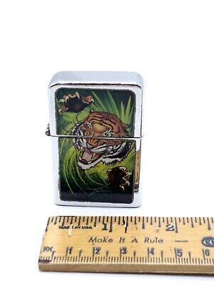 Vintage Victor Cigarette Lighter Tiger Picture