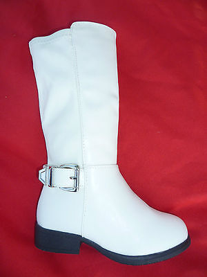 WHITE YOUTH GIRLS BOOTS CLAIRE SIZE - Girls White Boots