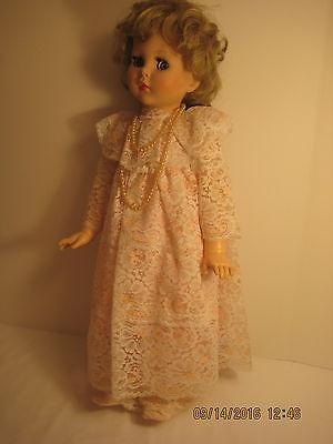 "Vintage American Character Doll ""Toodles"" - 24"" Hard Vinyl - ""Follow Me"" Eyes"