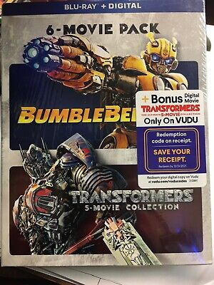 Transformers + Bumblebee: 6-Movie Pack Collection Blu-Ray