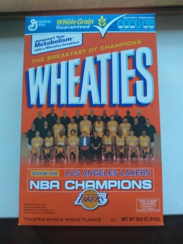 L.A. Lakers Championship  Wheaties Box mint condition sealed full