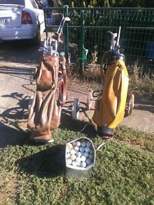 WELL USED/ABUSED GOLF CLUBS