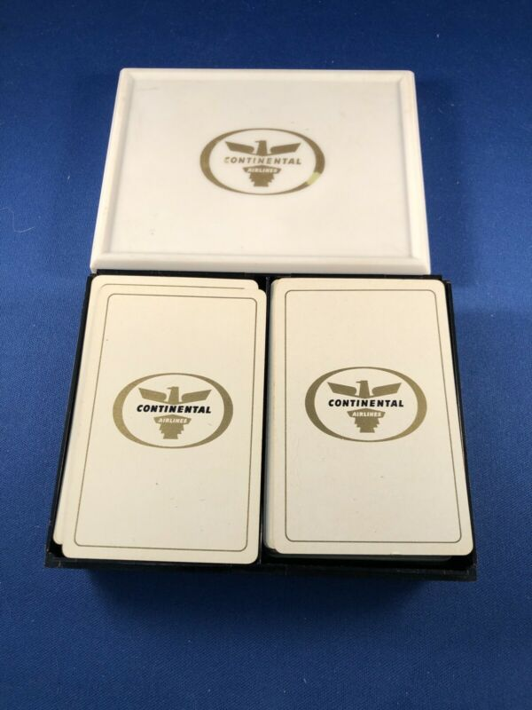 Continental Airlines Playing Cards Double Set