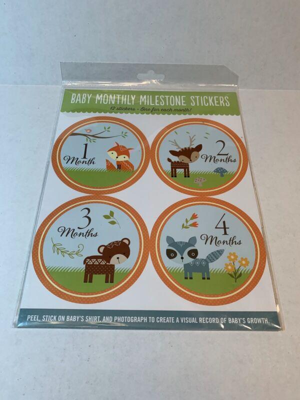 Baby Monthly Milestone Stickers - Woodland Friends - New