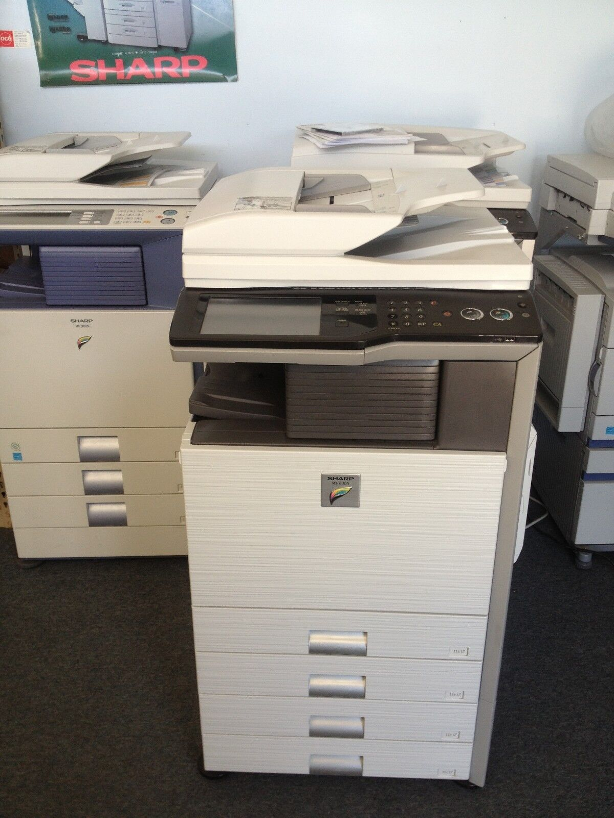 Details about Sharp MX-42N Showroom Cond Multifunction Color Copier  Network Scan Fax Printer