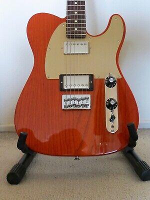 Fender FSR Blacktop Ash Telecaster + gig bag, sunset orange 2012 MIM