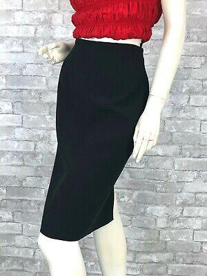 Alexander McQueen New Black Pencil Dress Skirt 6 US 42 IT M Silk Lined Runway
