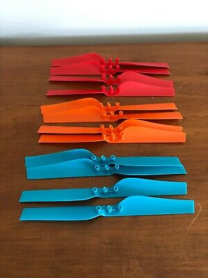 NIB 3 Sets Of 4 Color Parrot AR Drone 2.0 Propeller Blades Blue, Red, & Orange
