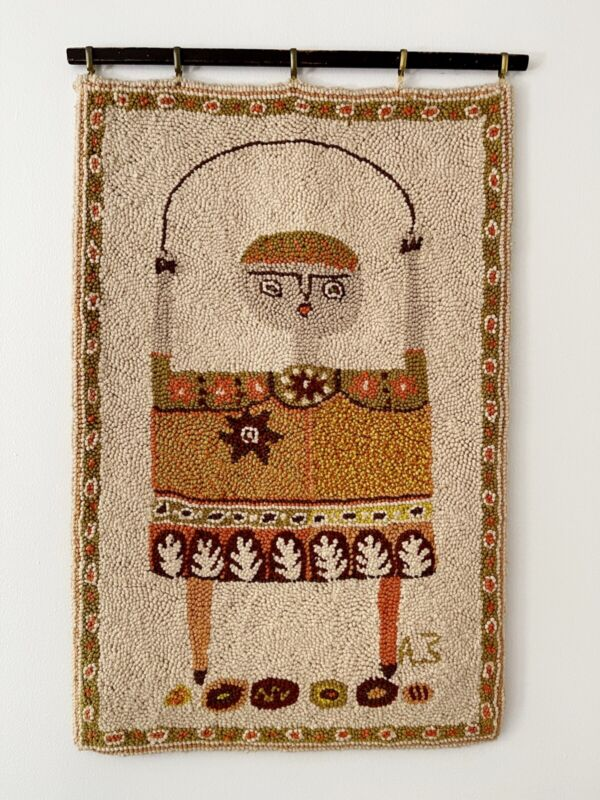 EVELYN ACKERMAN HAND HOOKED TAPESTRY