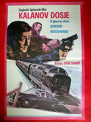 CALLAN 1974 EDWARD WOODWARD ERIC Baggage carrier CARL MOHNER UNIQUE EXYU MOVIE POSTER