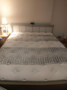 Queen mattress and silver bed frame Dickson North Canberra Preview