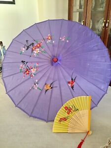NEW Chinese umbrella and hand held fan