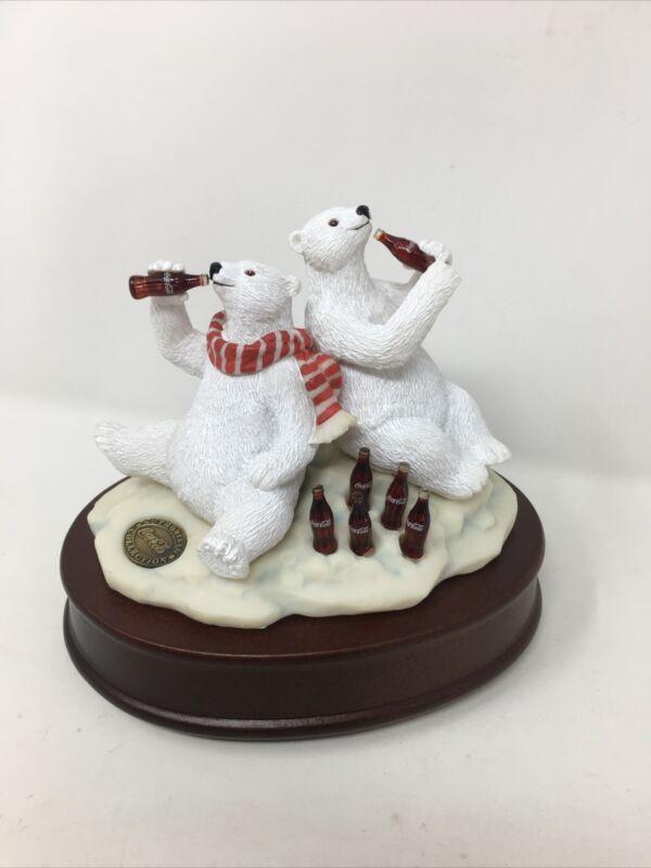 Coca-Cola Brand Advertising 1994 COKE Polar Bear Music Box Collectible WORKS!!
