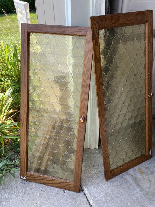 Vintage Coke Bottle Rondel Glass Doors
