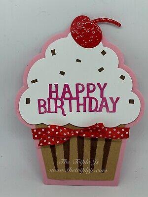 Handmade Cupcake Card, Happy - Cupcake Card