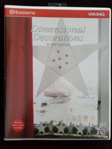 Husqvarna Viking Dimensional Decorations Collection #163 Embroidery CD Booklet