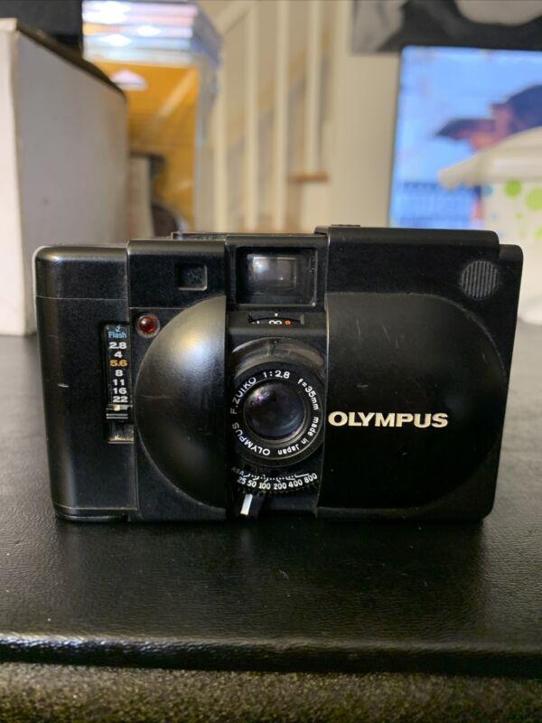 Vintage Rare Olympus XA 35mm Rangefinder Film Camera Body Only No Flash Tested