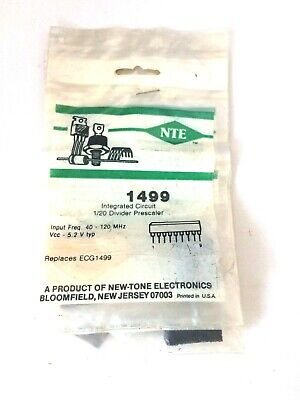 Nte Nte1499 Integrated Circuit 120 Frequency Divider Prescaler