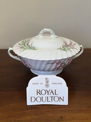 Bell Heather (Royal Doulton BELL HEATHER SCALLOPED Round Covered Vegetable ~ Lot 1)