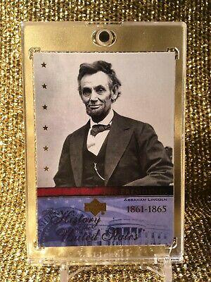 Presidentes Abraham Lincoln Estados Unidos Upper Deck Eeuu Historia Carta RC