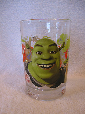 2007 Dreamworks Shrek the Third McDonald's Glass Beware! Ogre's Puss n Boots