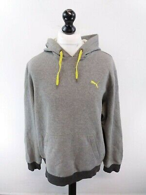 PUMA Mens Hoodie Jumper XL Grey Cotton & Polyester