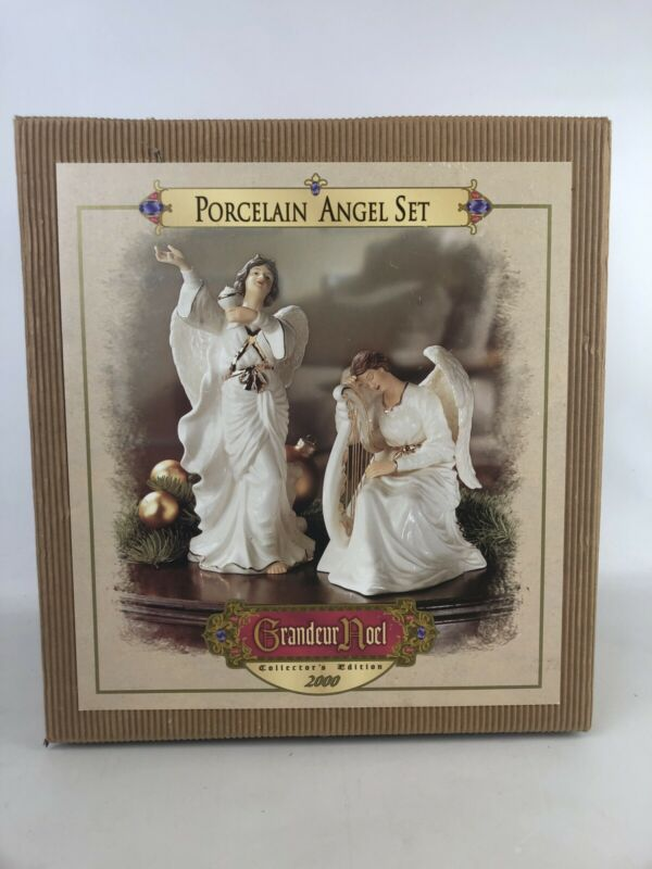 GRANDEUR NOEL PORCELAIN ANGEL SET Collector