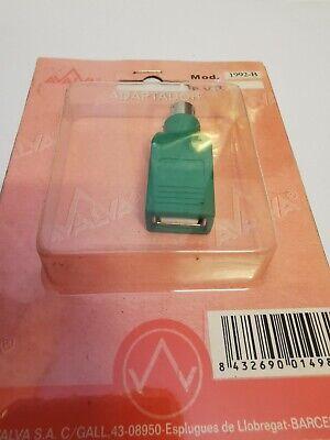 ADAPTADOR USB PS2 Macho A Usb Hembra CONVERTIDOR CONVERSOR PARA RATON O...