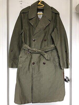 424 Fairfax X Alpha Military Trenchcoat, Army Green, Medium, Made in Italy $250