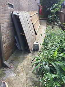 Sliding Steel Fence with motor (2remotes) and timber paling fence Lane Cove Lane Cove Area Preview