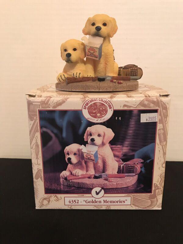 GOLDEN MEMORIES PUPPIES HUNTING FIGURINE SPORTSMAN COLLECTION