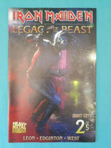 """IRON MAIDEN LEGACY OF THE BEAST """"NIGHT CITY""""   VOL. 2 - ISSUE 2 - COVER C (2019)"""