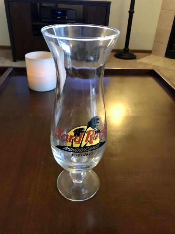 """Hard Rock Cafe CHICAGO Hurricane Glass 10"""" - COLLECTABLE"""