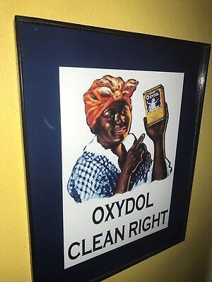 Oxydol Soap Mammy Kitchen Sambo Framed Advertsing Print Man Cave Sign
