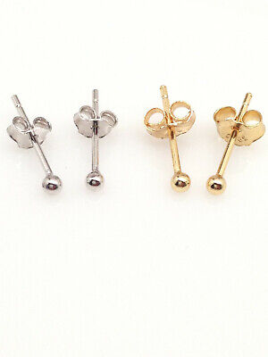Tiny Silver Ball (Sterling Silver 925 Tiny Ball Stud Earrings 1.5mm )