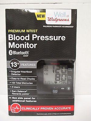 Walgreens Premium Wrist Blood Pressure Monitor Bluetooth Wgnbpw 760Bta   Rc 4598