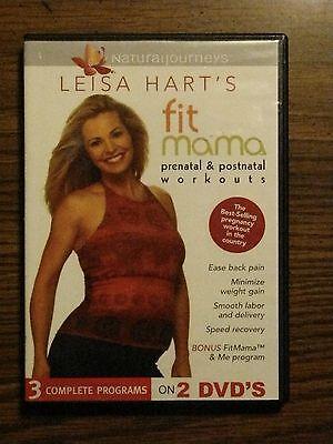 LISA HART'S FIT MAMA PRENATAL & POSTNATAL WORKOUTS 2 DVDs PREGNANCY FITNESS DVD (Lisa Hart Prenatal)