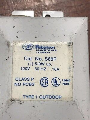 Robertson S68p 120v 1 5-9w Some Scratches Ballast Is New Never Been Used
