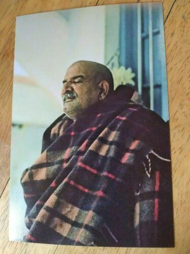 "🌻WONDERFUL PRINT NEEM KAROLI BABA MAHARAJJI  GREAT GURU SAINT INDIA HINDU 5""x7"""
